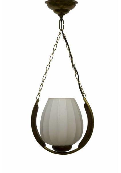 Design Pendant Lamp, Wooden Frame