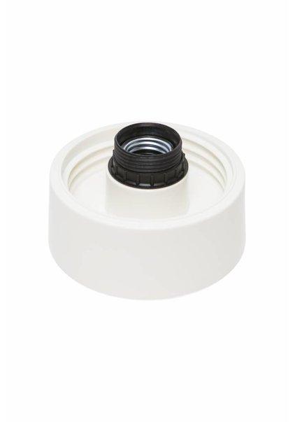 Lamp Ceiling Ring, Luminaire, White Plastic, 60 Watt