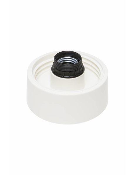 Lamp ceiling ring, Luminaire, white plastic, 60 watt model