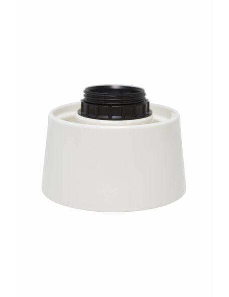 Plafondarmatuur, wit kunststof schroefring, 40 Watt