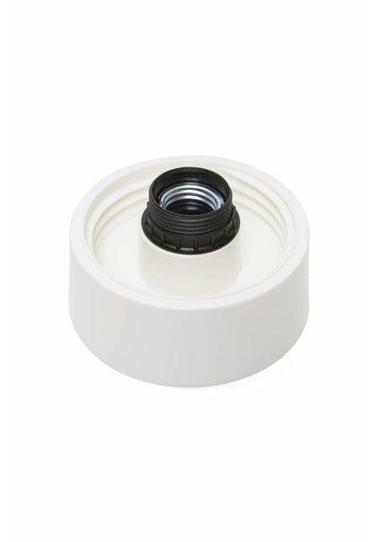 Lamp Ceiling Ring, Luminaire, White Plastic, 100 Watts