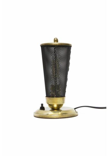 Vintage Tafellamp, Ronde Voet, Jaren 50