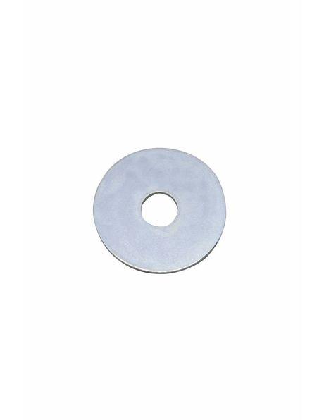 Carrosserie ring, zilverkleurig metaal, 4 cm diameter, m10 opening