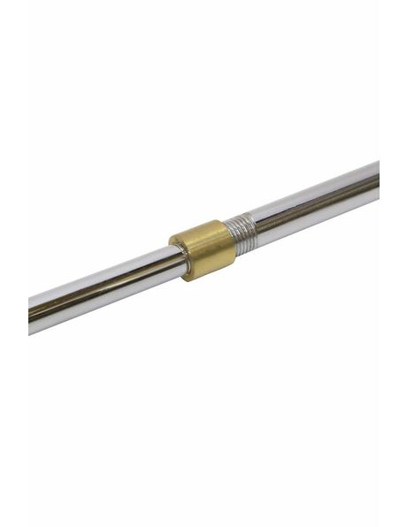 Adapting nipple for pipes, M10x1 to M8x1, brass