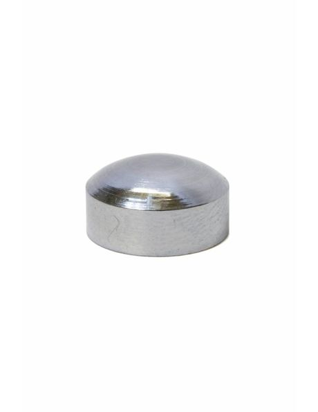 Cover plate, silver, 6 mm / 0.24 inch high, m10 thread