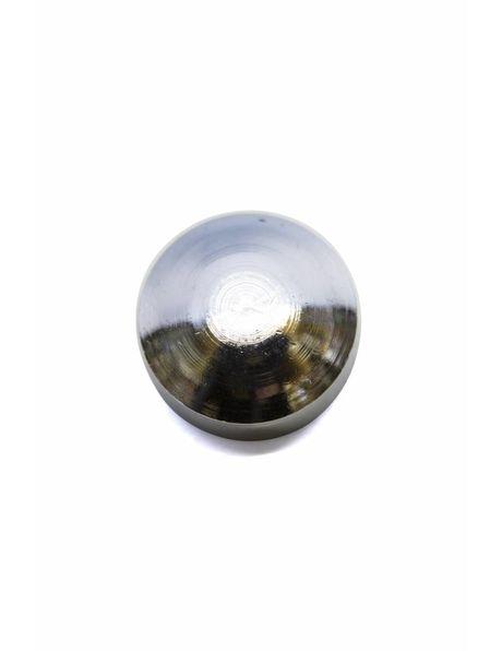 Afdekdopje, zilver, 6 mm hoog, m10 draad