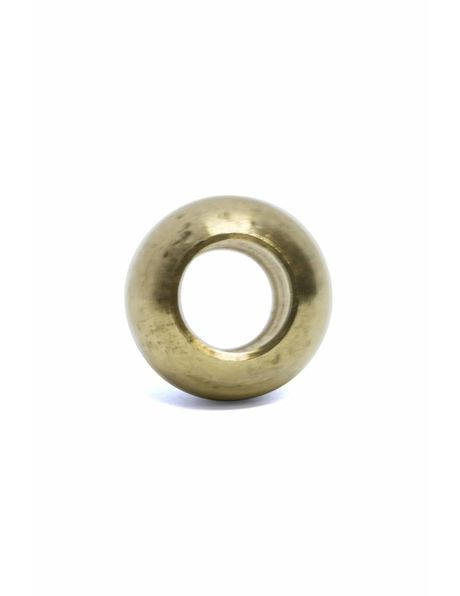 Brass decorative sphere (ball shape), m10 opening (without thread)