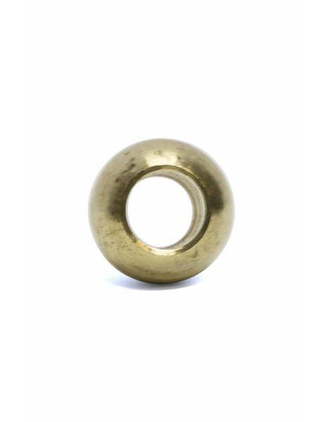 Messing sierkogel, m10 opening (zonder schroefdraad)