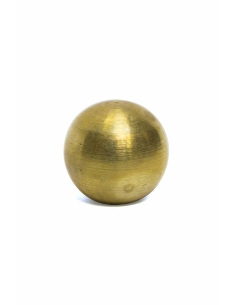 Messing Sierdopje, 1 cm diameter, intern m4x1 schroefdraad