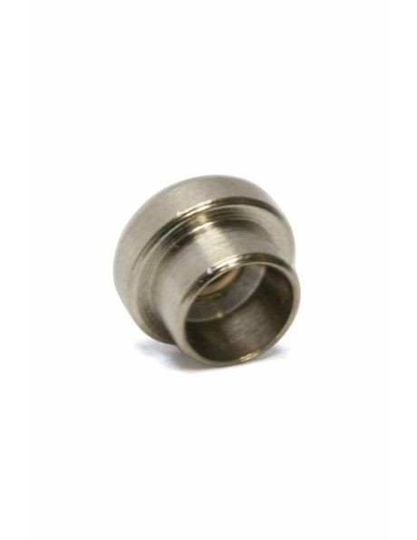 Nipple, M3x1, matt silver colour