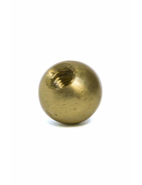 Sierbol, messing, 8 mm diameter, interne draad M3x1