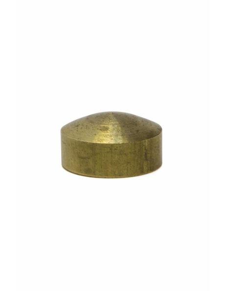 Afdekdopje, platte cilinder, messing, interne draad: M10 x 1