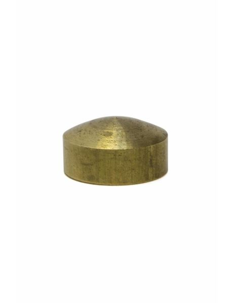 Cover plate, flat cylinder, brass, internal thread: M10 x 1
