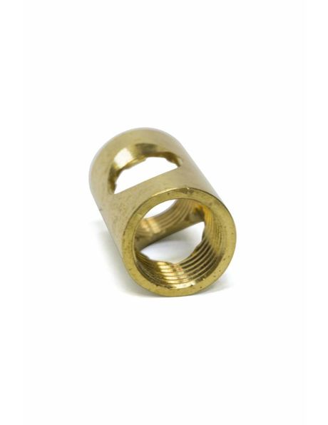 M10x1 coupling piece, brass, with side entry