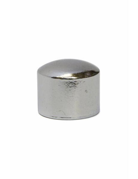 Cover plate, silver colour, internal: M10 x 1