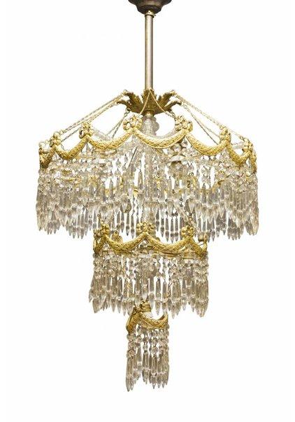 Kroonluchter, Grote Hanglamp Uit, ca. 1900