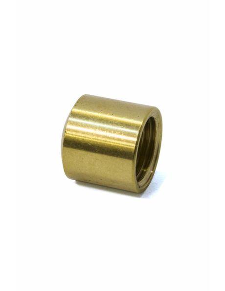 Brass cover plate, 1.2 cm / 0.5 inch high, internal M10x1 thread