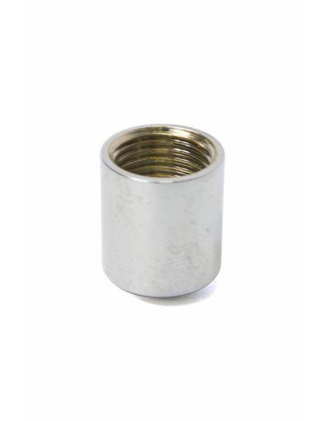 Afdekdop, zilver, 1.5 cm hoog, m10x1 interne draad