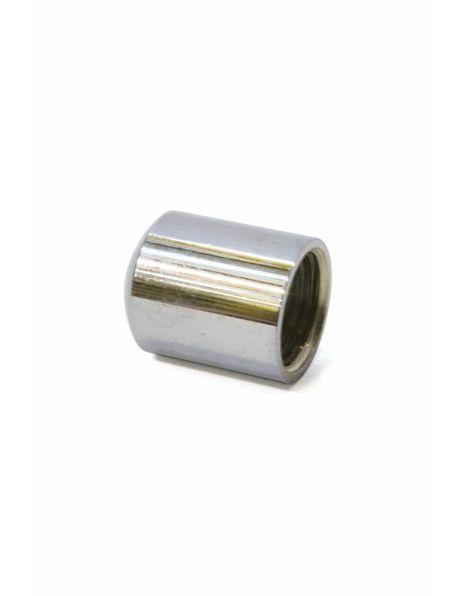 Cover plate, silver, 1.5 cm / 0.59 inch high, m10x1 internal thread