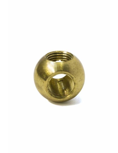 Brass  connecting piece, 3 holes, T-connection for pipes