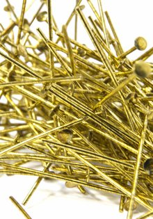 Gold Colour Pins for Chandelier Parts, 3.5 cm (= 1.4 inch)