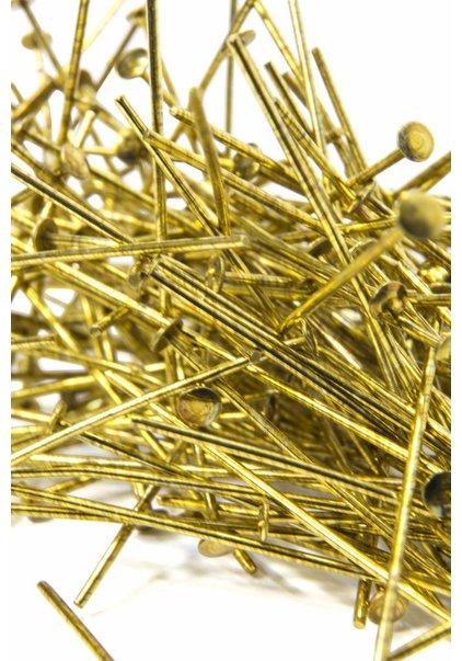 Gold Colour Pins for Chandelier Parts, 3.5 cm (= 1.4 inch)