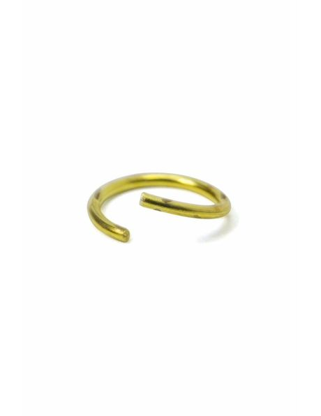 Luster parts, gold coloured ring, connecting eye, 0.8 cm (=  0.3 inch)