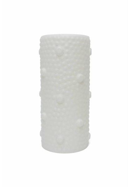 Klein Lampenkapje, Witte Cilinder met Noppen