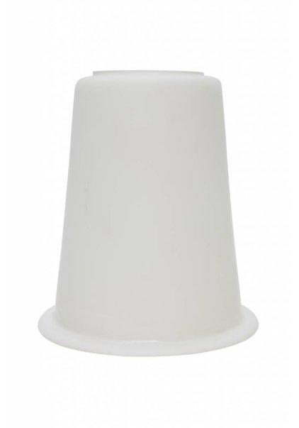 Glass Lampshade, White, Unusual Shape