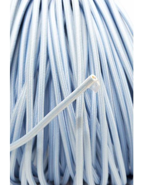 Textile electricity cord, fresh light blue colour