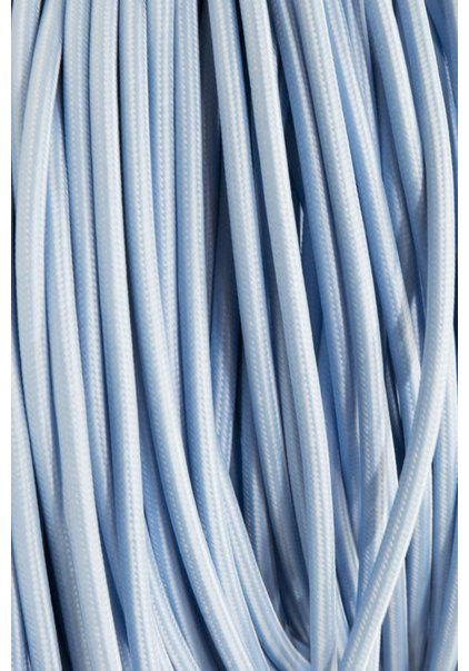 Lamp Wire, with Fabric Cover, Colour: Light Blue