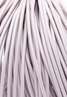 Lamp Wire, with Light Pink Fabric Cover