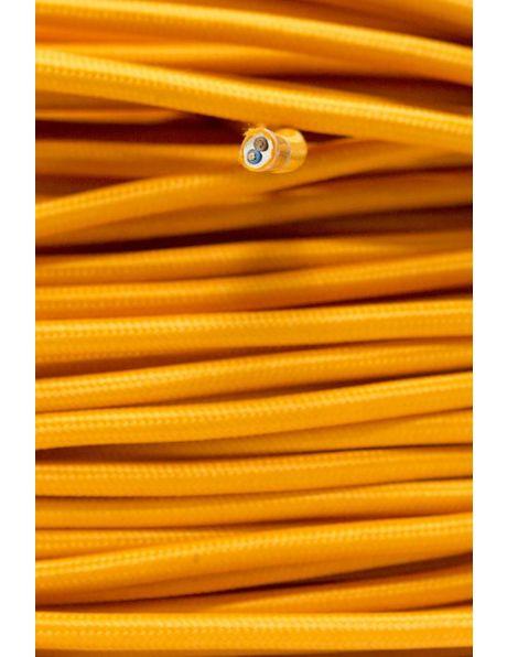 Oranje strijkijzersnoer, ronde vorm, 2 aderen
