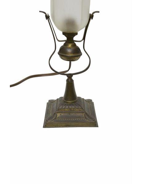 Brocante tafellamp, jaren 30, schommel-mechanisme