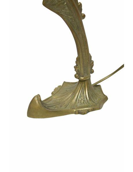 Antieke Bureaulamp, geslepen glas, ca. 1930