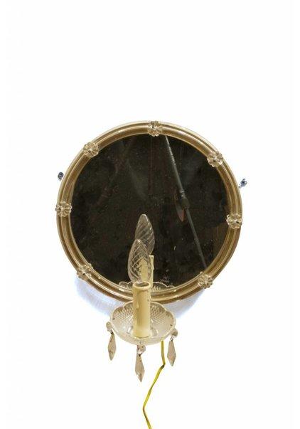 Brocante Wandlamp met Spiegel