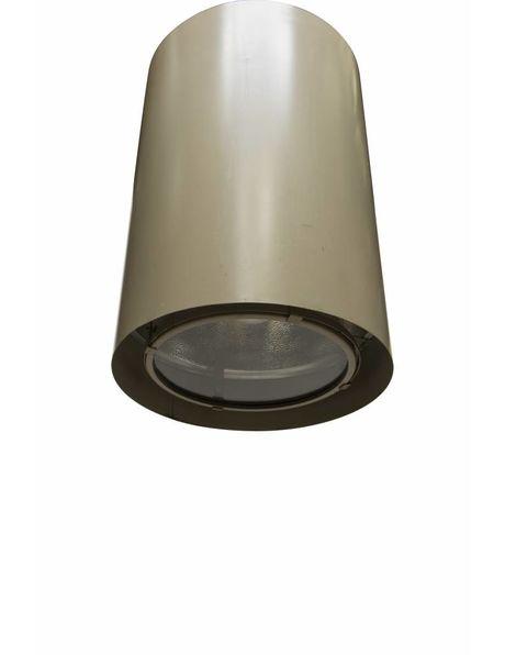 Stoere hanglamp, grote cilinder, industrieel design, ca. 1950