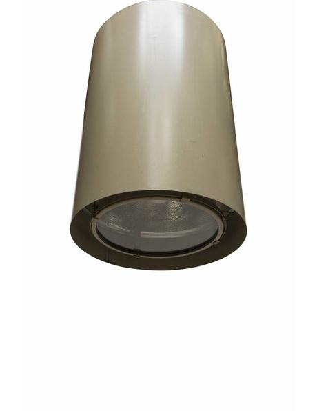 Tough hanging lamp, large cylinder, industrial design, 1950s