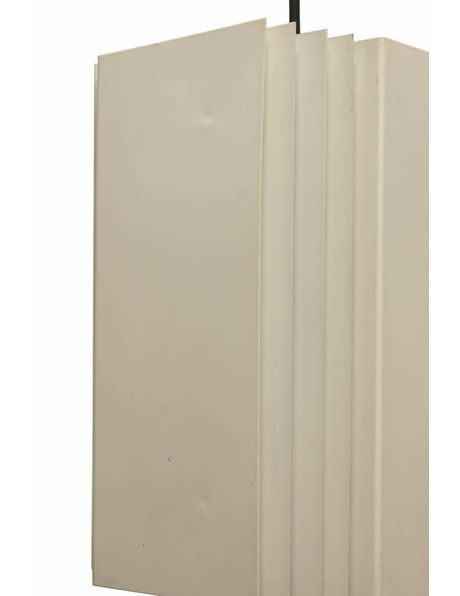 Stoere Hanglamp, Vierkant, IJzer, jaren 50-60