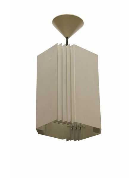 Tough hanging lamp, square, iron, 1950s