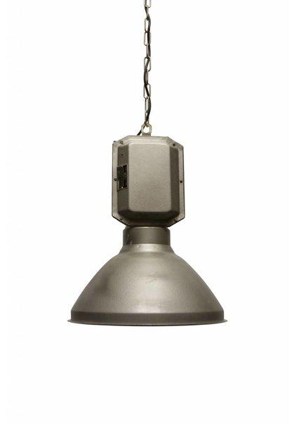 Large Metal Pendant Lamp, Industrial Design, 1950s