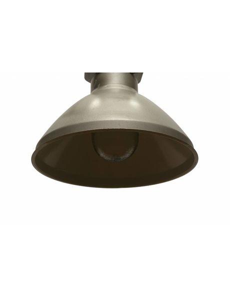 Large Pendant Lamp, Industry, Glass, Metal, Enamel, Porcelain