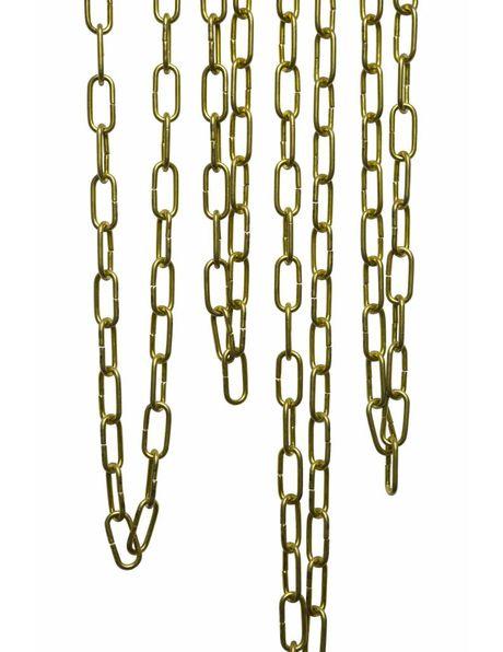 Chain, brass, links: 5.0 x 2.3 cm  /  2.0 x 0.9 inch
