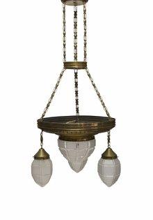 Copper Pendant Lamp, 1930s