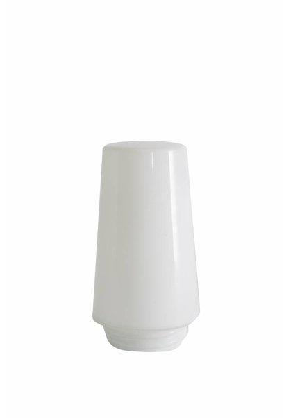 Klein Wit Glazen Kapje met Schroefdraad