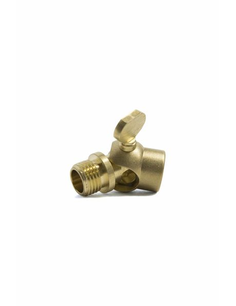 Brass Swing Unit (knee joint) with wing nut, thread: external (male) / internal (female)