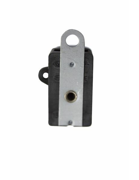 Black pull switch, with metal back strip