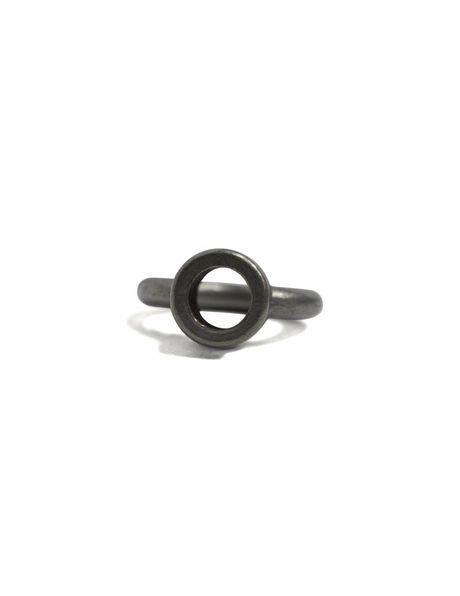 Loop gripper to hang your Lamp, metal, rough surface,  matt silver, M10x1