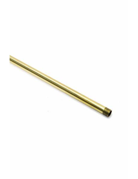 Tube, 70 cm / 27.6 inch, polished brass, M13x1