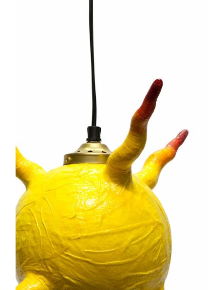 Michiel van Kets hanging or standing lamp called 'Little Sun', Made of paper maché